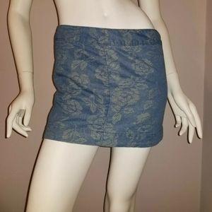 Abercrombie & Fitch Women's Blue Floral Mini Skirt